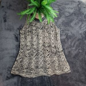 Hippie Laundry Boho Knitted Marbled Tank Top